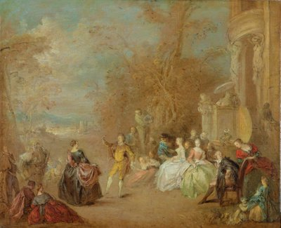The Country Dance (oil on canvas) Wall Art & Canvas Prints by Jean-Baptiste Joseph Pater