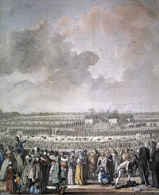The Festival of the Federation at the Champ de Mars, 14 July 1790 Fine Art Print by Jacques Francois Joseph Swebach