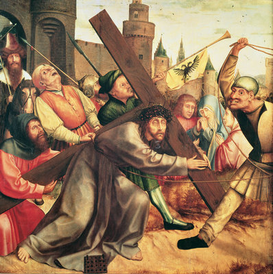 Christ on the Stations of the Cross (oil on canvas) Fine Art Print by Quentin Massys or Metsys