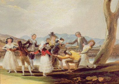 Blind Man's Buff (oil on canvas) (see also 610170 and 29863) Wall Art & Canvas Prints by Francisco Jose de Goya y Lucientes