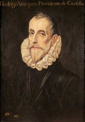 Don Rodrigo Vázquez de Arce (oil on canvas) Fine Art Print by Domenico El Greco