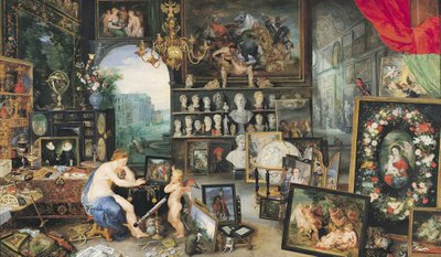 The Sense of Sight, 1617 (oil on panel) Wall Art & Canvas Prints by Jan & Rubens, P.P. Brueghel