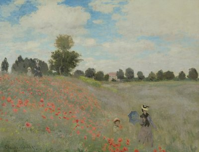 Wild Poppies, near Argenteuil (Les Coquelicots: environs d'Argenteuil), 1873 (oil on canvas) Wall Art & Canvas Prints by Claude Monet