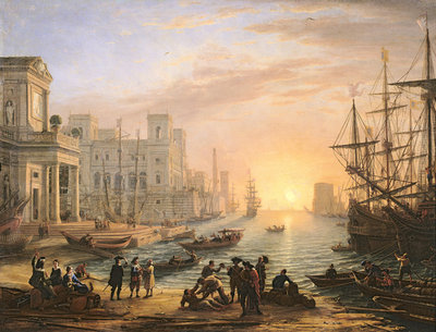 Sea Port at Sunset, 1639 Fine Art Print by Claude Lorrain
