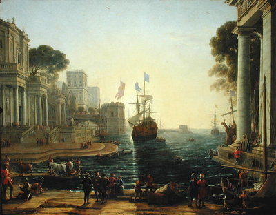 Ulysses Returning Chryseis to her Father Poster Art Print by Claude Lorrain