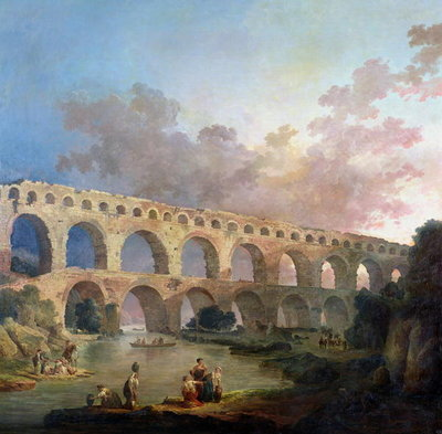 The Pont du Gard, Nimes, c.1786 Fine Art Print by Hubert Robert