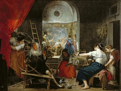 The Spinners, or The Fable of Arachne, 1657 Fine Art Print by Diego Rodriguez de Silva y Velazquez