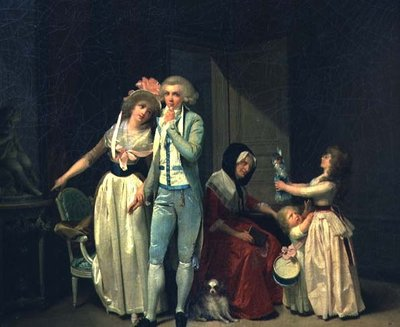 Those who Inspire Love Extinguish it, or The Philosopher, 1790 (oil on canvas) Fine Art Print by Louis Leopold Boilly
