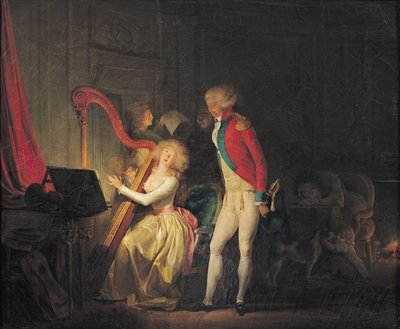 The Improvised Concert, or The Price of Harmony, 1790 Fine Art Print by Louis Leopold Boilly