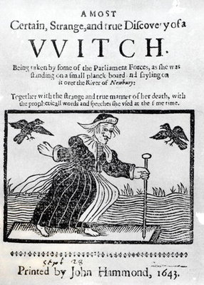 A Most Certain, Strange and True Discovery of a Witch, 1643 Poster Art Print by English School