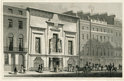 The Egyptian Hall, Piccadilly, 1828 (engraving) Wall Art & Canvas Prints by English School