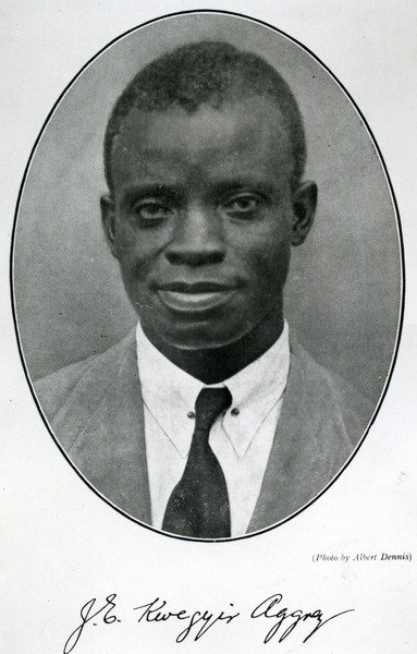 Dr. James Emmanuel Kwegyir Aggrey (1875-1927) (b/w photo) Anamabu Wall Art & Canvas Prints by English School