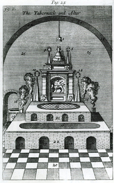 The Tabernacle and Altar (engraving) Wall Art & Canvas Prints by English School