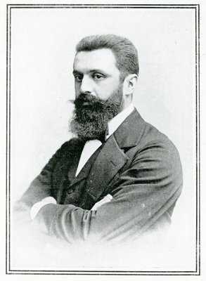 Theodor Herzl (1860-1904) (b/w photo) Wall Art & Canvas Prints by English School