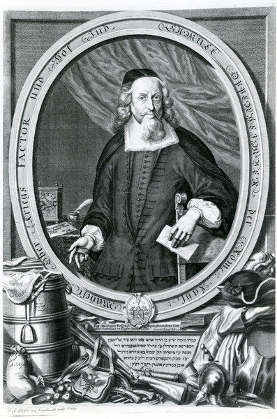 Samuel Oppenheimer (1630-1703) (engraving) Wall Art & Canvas Prints by Johann Andreas Pfeffel