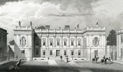 Burlington House, Royal Acadamy of Arts, Piccadilly, London, c.1829-31(engraving) Wall Art & Canvas Prints by Thomas Hosmer Shepherd