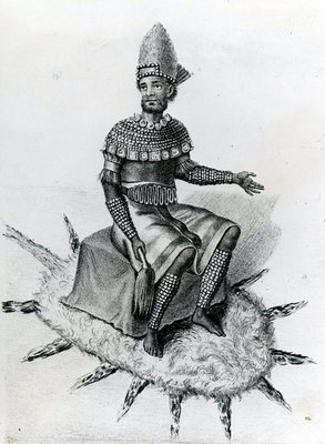Kazembe, or King of Lunda, South of Lake Mweru, 1891 (engraving) Wall Art & Canvas Prints by English School