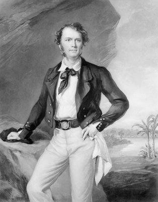 Sir James Brooke (1803-68) Rajah of Sarawak, 1847 (oil on canvas) (b&w photo) Wall Art & Canvas Prints by Sir Francis Grant