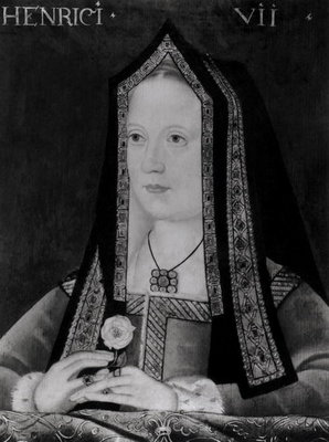 Portrait of Elizabeth of York (1465-1503) (oil on canvas) (b/w photo) Wall Art & Canvas Prints by English School
