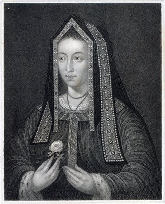 Portrait of Elizabeth of York (engraving) Wall Art & Canvas Prints by William the Younger Holl