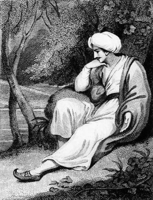 A Persian in Thought, engraved by R.W.Dadley Fine Art Print by Kirk