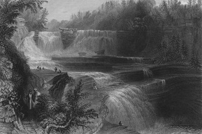 Trenton High Falls, 1838 Fine Art Print by William Henry Bartlett