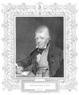 Portrait of Walter Scott Fine Art Print by Henry Thomas Ryall