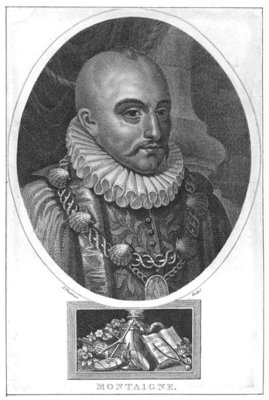 Portrait of Michel de Montaigne Fine Art Print by English School