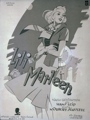 Sheet music cover for the song 'Lili Marleen' Fine Art Print by German School