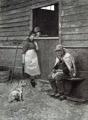 Expectancy, from 'Leisure Hour', 1888 (engraving) Fine Art Print by Dewey Bates