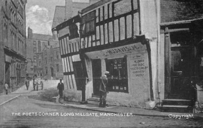 The Poet's Corner, Long Millgate, Manchester, c.1910 Fine Art Print by English Photographer