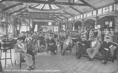 YMCA Hostel, Piccadilly, Manchester, c.1910 Fine Art Print by English Photographer