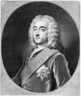 Philip Dormer Stanhope, engraved by John Simon Fine Art Print by William, of Bath Hoare