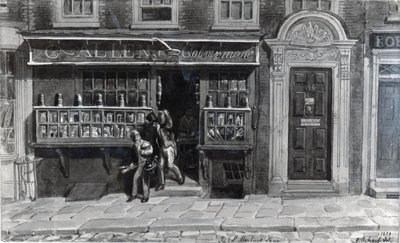 Colourman's Shop, St. Martin's Lane, London, 1829 Fine Art Print by George the Elder Scharf