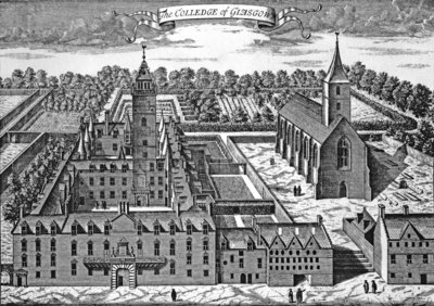 The College of Glasgow, from 'Theatrum Scotiae', 1693 Fine Art Print by John Slezer