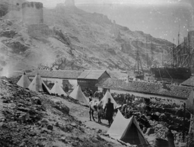 The Port at Balaklava during the Crimean War, c.1855 (b/w photo) Wall Art & Canvas Prints by Roger Fenton