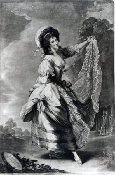 Giovanna Baccelli, engraved by John Jones Fine Art Print by Thomas Gainsborough