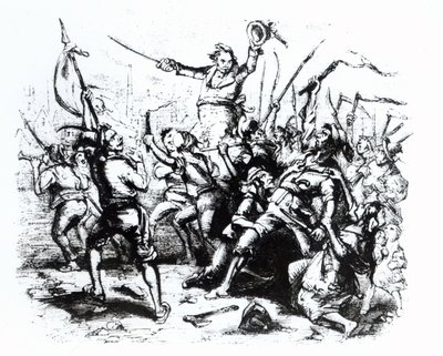 Luddite Rioters, 1811-12 (engraving) Wall Art & Canvas Prints by English School