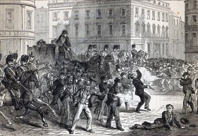A Belfast Riot (engraving) Fine Art Print by English School