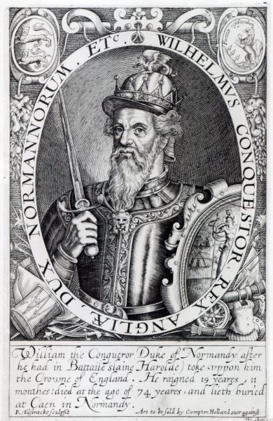 William the Conqueror, 1618 (engraving) Wall Art & Canvas Prints by Renold Elstrack