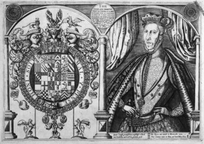 Thomas Howard, 4th Duke of Norfolk and his coat of arms, 1616 (engraving) Wall Art & Canvas Prints by Renold Elstrack