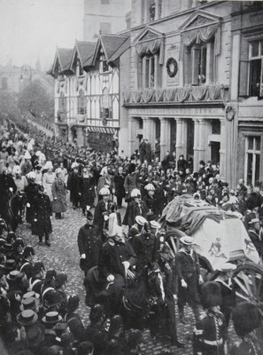 Queen Victoria's Funeral procession at Windsor, 1901 Fine Art Print by English Photographer