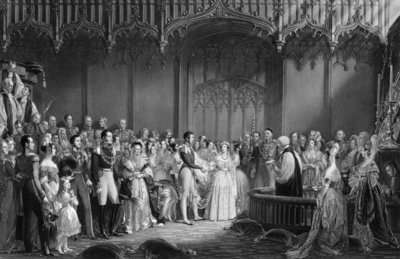Marriage of Queen Victoria Fine Art Print by Sir George Hayter