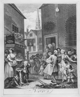 Times of the Day, Noon, 1738 Fine Art Print by William Hogarth
