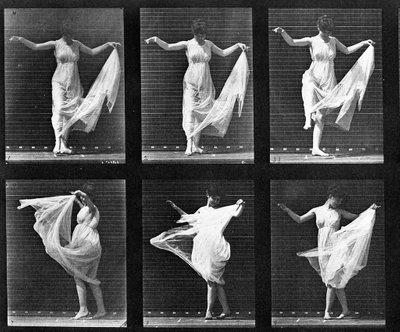 Dancing Woman, plate 187 from 'Animal Locomotion', 1887 (b/w photo) Fine Art Print by Eadweard Muybridge