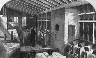 Tread-Wheel and Oakum-Shed at the City Prison, Holloway, from 'The Criminal Prisons of London and Scenes of Prison Life' by Henry Mayhew and John Binny, 1862 (engraving) Wall Art & Canvas Prints by English School