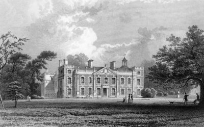 Hill Hall, near Epping, Essex, engraved by Samuel Lacey, 1831 (engraving) Fine Art Print by William Henry Bartlett