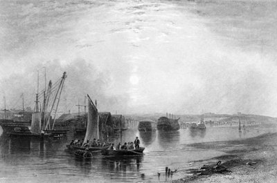 Chatham, Kent, published in Finden's 'Ports and Harbours', engraved by E. Finden, 1842 (engraving) Wall Art & Canvas Prints by Henry Warren