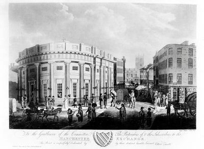 The Manchester Exchange, 1810 (engraving) Wall Art & Canvas Prints by Francis James Sarjent