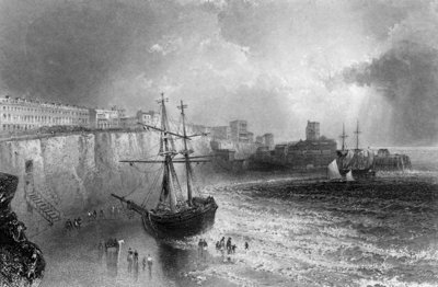Broadstairs, Kent, engraved by Robert Brandard, 1842 (engraving) Wall Art & Canvas Prints by William Henry Bartlett